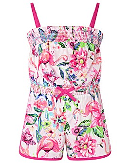 Monsoon S.E.W Floella Flamingo Playsuit