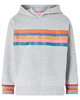 Accessorize Rainbow Stripe Hoodie