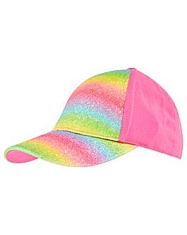 Accessorize Rainbow Glitter Baseball Cap