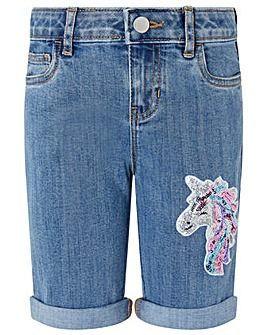 Monsoon Elouise Unicorn Sequin Short