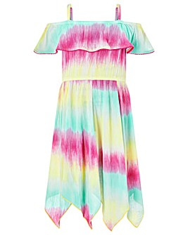 Monsoon S.E.W Thaia Tie Dye Frill Dress