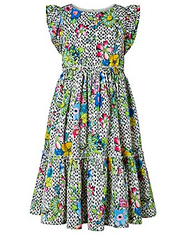 Monsoon Azalea Floral Midi Dress