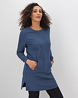 Denim Marl Cotton Sweat Tunic