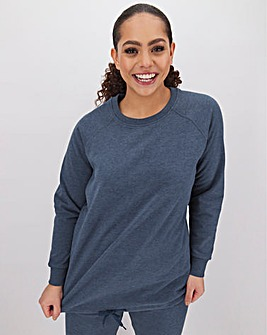 Dark Denim Marl Cotton Sweatshirt