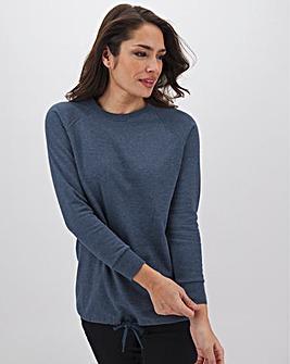 Dark Denim Marl Cotton Sweatshirt