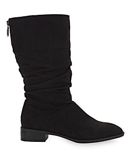 Ash Mid Length Zip Up Boots Extra Wide Fit