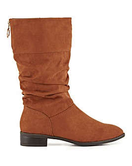 Ash Mid Length Zip Up Boots Wide Fit