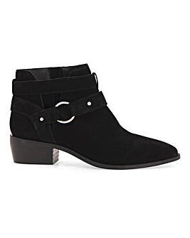 Aspen Suede Western Ankle Boots Wide Fit