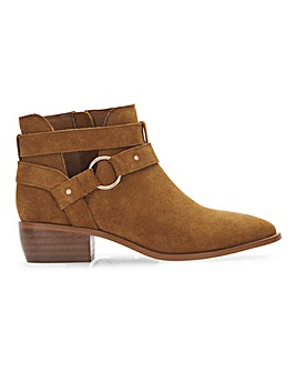 Aspen Suede Western Ankle Boots Extra Wide Fit