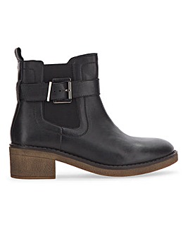 Honey Leather Chelsea Ankle Boots Wide Fit
