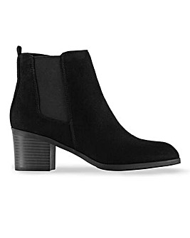 Hosta Heel Ankle Boots Wide Fit