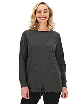 Charcoal Marl Cotton Sweatshirt