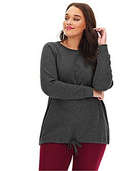 Grey Marl Cotton Sweatshirt