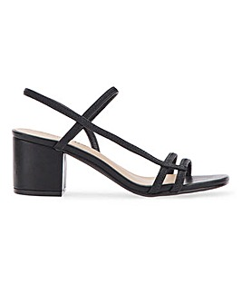 Nora Heeled Sandals Extra Wide Fit
