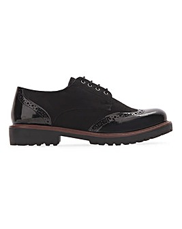 Argon Lace Up Brogue Shoes Wide Fit