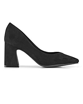 Isla Heeled Court Shoes Wide Fit