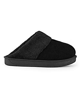 Aubree Suede Mule Slippers Extra Wide Fit
