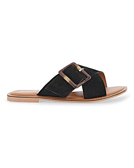 Joyce Large Buckle Sandals Wide Fit