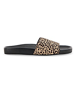Andi Footbed Ponyhair Slider Sandals Wide Fit