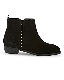 Ada Suede Detail Ankle Boots Wide Fit