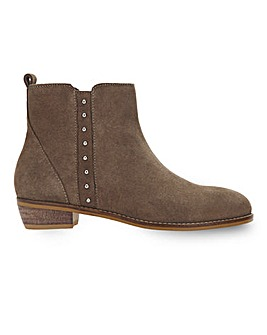 Ada Suede Detail Ankle Boots Extra Wide Fit