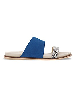 Kennedy Footbed Flat Sandals Extra Wide Fit