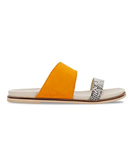 Kennedy Footbed Flat Sandals Wide Fit