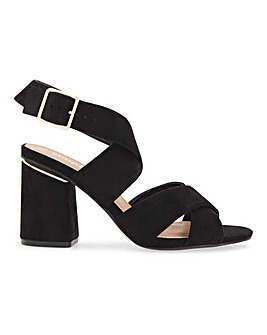 Catherine Multi Strap Heeled Sandals Extra Wide Fit