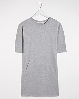Grey Marl Cotton Sweat Tunic
