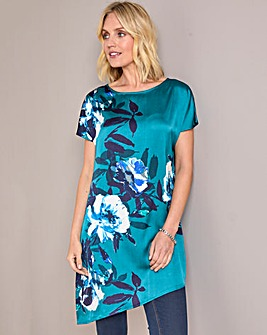 Julipa Satin Placement Print Tunic