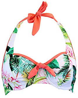 Pour Moi Tropics Halter Underwired Top