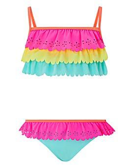 Accessorize Lasercut Ruffle Bikini