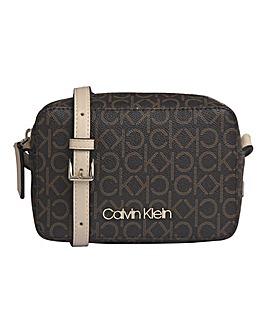 Calvin Klein Mono Brown Logo Camerabag