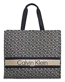 Calvin Klein Stripe Logo Tote