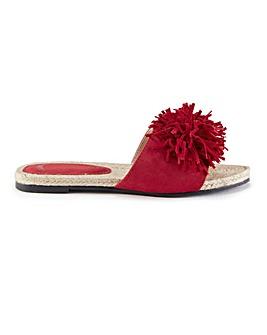 Pretty You London Tassel Slider Sandals
