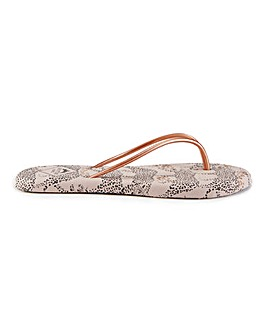 Pretty You London Printed Flip Flop