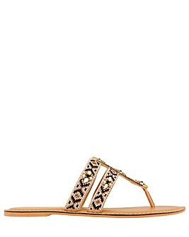 Monsoon Alana Aztec Beaded Toe Post
