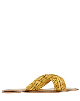 Monsoon Walker Woven Cross Strap Slide
