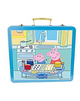 PEPPA PIG Art Tin Case 60pc Creative Kit