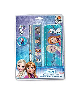 DISNEY Frozen Pencil Box School Set