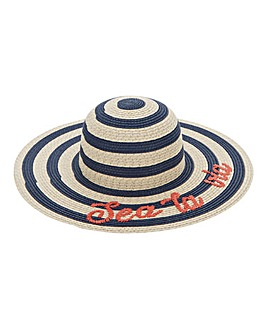Sea La Vie Stripe Wide Brim Sunhat
