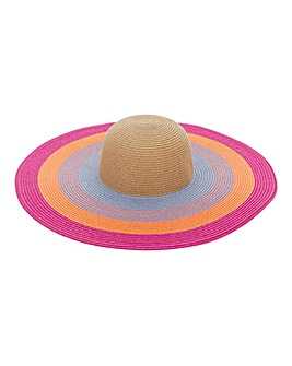 Multi Stripe Oversized Sunhat