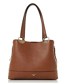 Dune Damine Large Circle Handle Tote Tan