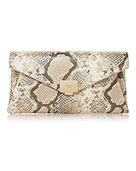 Dune Benvela Snake Envelope Clutch Bag