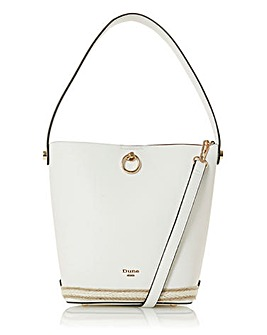 Dune Danika White Hobo Bag