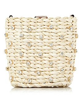 Dune Dinky Jewelled Basket Crossbody Bag