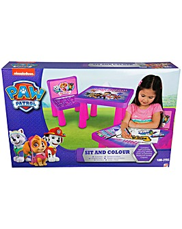 Paw Patrol Girls Sit and Colour