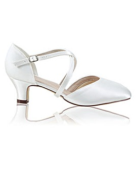 Perfect Renate Wide Fit Satin Low Heel