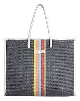Tommy Hilfiger Beach Bag Raffia Stripe