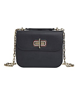 Tommy Hilfiger Leather Turnlock Crossover Bag
